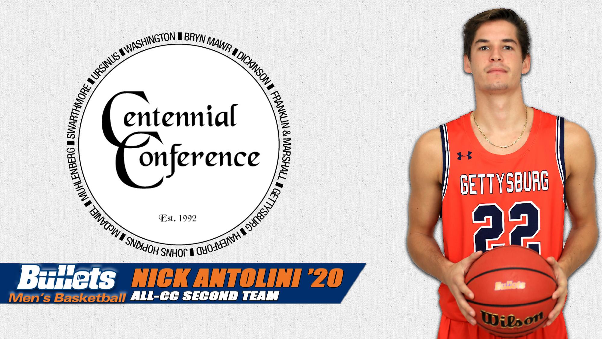 Nick Antolini named All-Centennial Conference